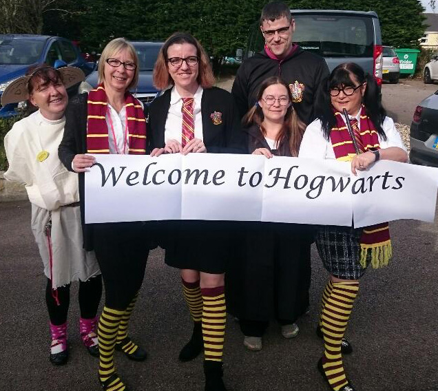 Trengrouse dressed in Harry Potter costumes.JPG