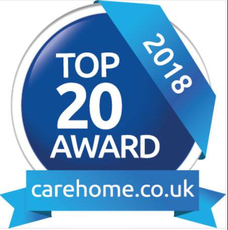 Top 20 Award from carehome.jpg