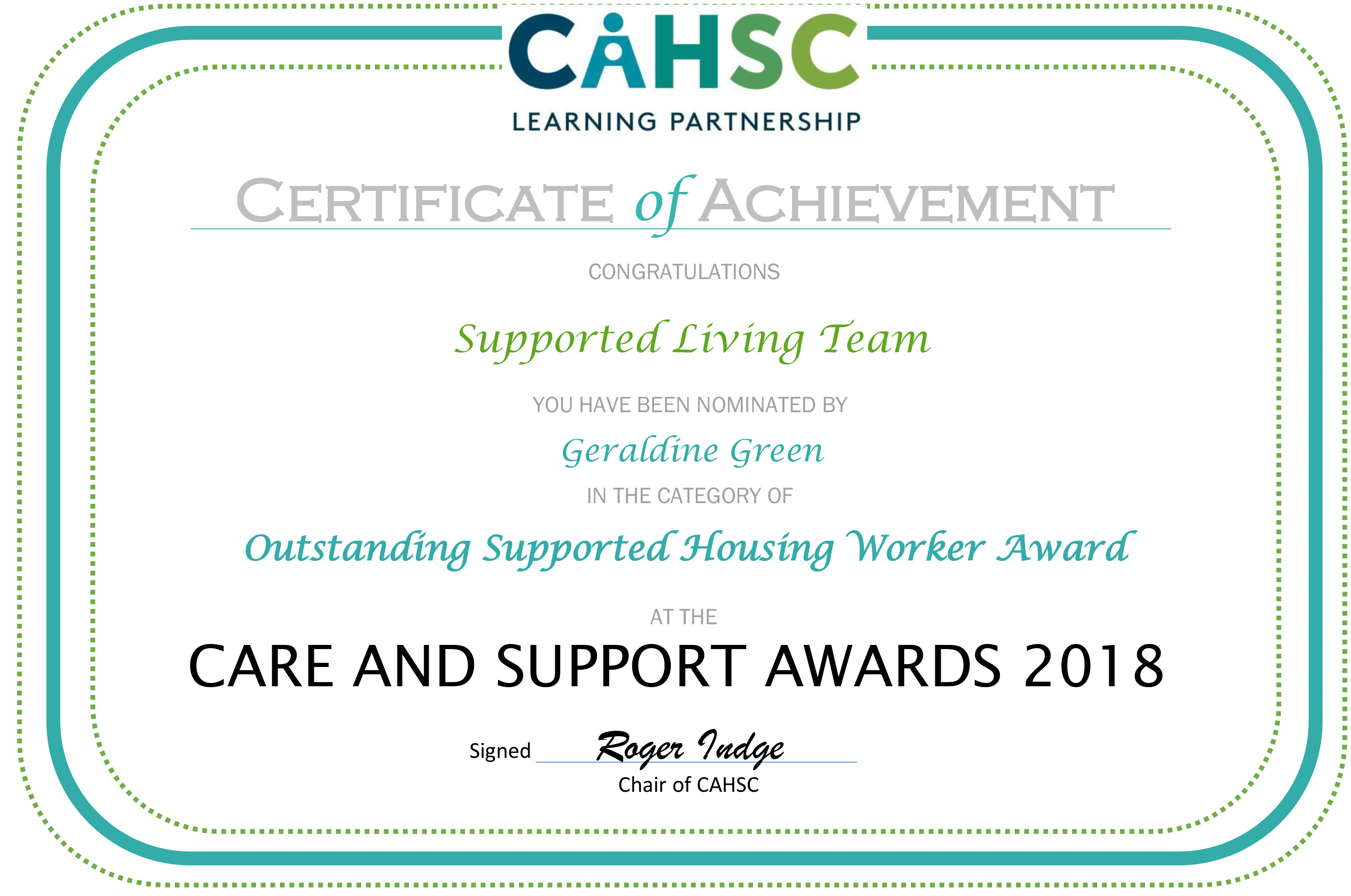 Care Awards Certificate - Supported Living Team.jpg